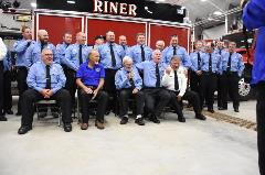 Riner Volunteer Fire Fighters at Riner Fire Station Ribbon Cutting Ceremony